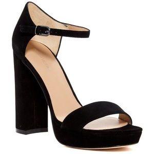 Pour La Victorie Yvette Black Platform Heels